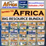 BUNDLE   Africa South of the Sahara   Intro Unit   Distance Learning