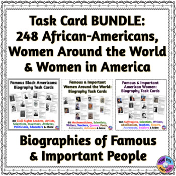 BUNDLE: African-Americans, Women Around the World, American Women Biographies