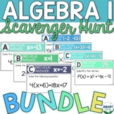 BUNDLE- Algebra 1 Scavenger Hunts (DIGITAL + PRINTABLE)