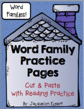BUNDLE: All 60 Word Families Word Family Cut, Paste & Read Practice