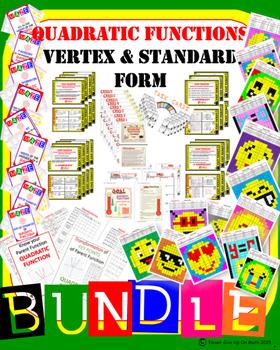 BUNDLE 44 products 50+% OFF Standard & Vertex form of Quadratic Function