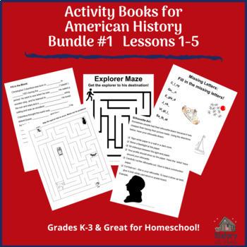 BUNDLE! American History eBook #1 & Activity Book; Grades K-3/Homeschool