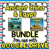 BUNDLE Ancient China & Ancient Egypt for Google Drive & Google Classroom