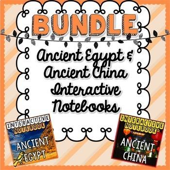 BUNDLE Ancient China & Egypt Interactive Notebooks