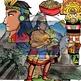 BUNDLE-Ancient Empires Maya, Aztec, Inca 48 pc. Clip-Art (BW/Color)