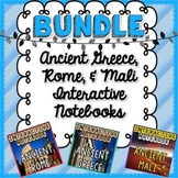 BUNDLE Ancient Greece, Mali, & Rome Interactive Notebook
