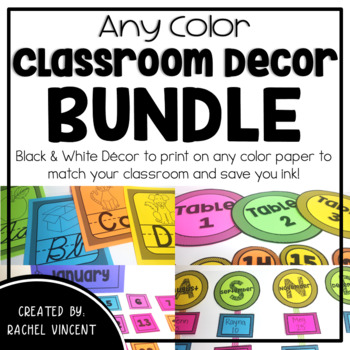 Any Color Classroom Decor Pack BUNDLE