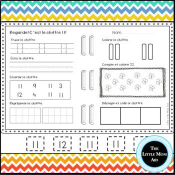 Apprends les chiffres 0 à 30   French Number Practice 0 to 30 BUNDLE