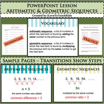 BUNDLE Arithmetic & Geometric Sequences 6 Separate Activit