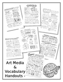 BUNDLE- 7 Art Media and Vocabulary Handouts