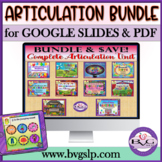 Distance Learning Speech Therapy Articulation - NO PRINT MEGA BUNDLE Teletherapy
