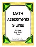 BUNDLE Assessment Units 3rd Grade Math (for use with Magic of Math)