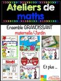 BUNDLE Ateliers de maths - ENSEMBLE économique grandissant MATERNELLE/JARDIN