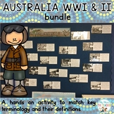 BUNDLE - Australian's at War: Vocabulary Bulletin Board