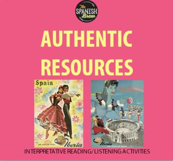 BUNDLE Authentic videos Spanish 2: TRAVEL, VIAJES