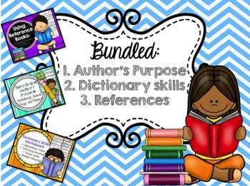 BUNDLE: Author's Purpose, Dictionary Skills, Reference Books