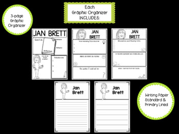 BUNDLE : Awesome Authors Graphic Organizers - 21 Authors in All
