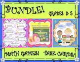 BUNDLE! MATH GAMES AND TASK CARDS!  GRADES 3 -6
