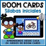 BOOM CARDS: Lectura SÍLABAS INICIALES | Repaso de verano | Distance Learning