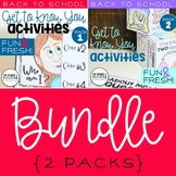 "Back to School Activities ""Get To Know You"" BUNDLE {2 Packs}"