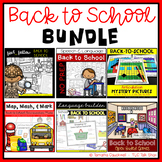 BUNDLE:  Back to School Resources for Speech Therapy