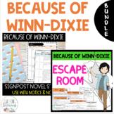 BUNDLE - Because of Winn-Dixie - Notice & Note Novel Study + Escape Room