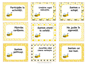 BUNDLE Bee Themed Posters in Romanian