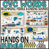 BUNDLE: Beginning, Middle & Ending Sound CVC Word Centers