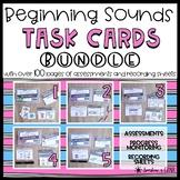 BUNDLE: Beginning Sounds Task Cards ❘ Initial Sound Assessments