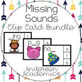 BUNDLE: Beginnng, Middle, and Ending Sound Clip Cards