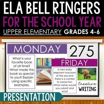 BUNDLE Bell Ringer Journal for Entire School Year: Upper Elementary Grades 4-6