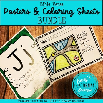 BUNDLE: Bible Verse Posters and Coloring Sheets