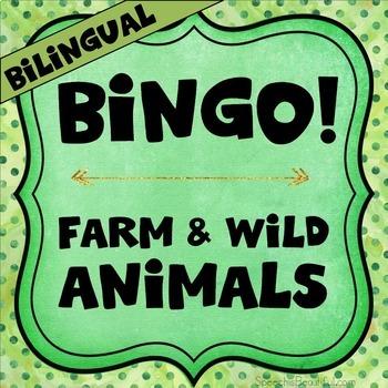 {BUNDLE} Bilingual Category Bingo: Flashcards & Games (English & Spanish) 3-in-1