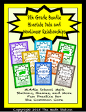 BUNDLE Bivariate and Nonlinear Math Stations for Common Core Eighth Grade