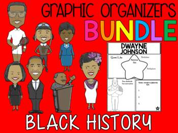 BUNDLE : Black History Graphic Organizers: African American Achievers - SET 2