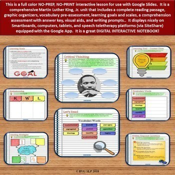 BUNDLE Black History Month Unit PLUS Boom Cards Digital - Teletherapy