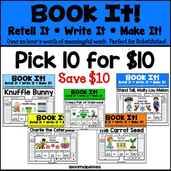 SAVE $10! Pick any TEN for $10! BUNDLE! Book It: Retell It