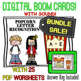 Letter Recognition A-E BUNDLE! {Boom Cards} with PRINTABLE