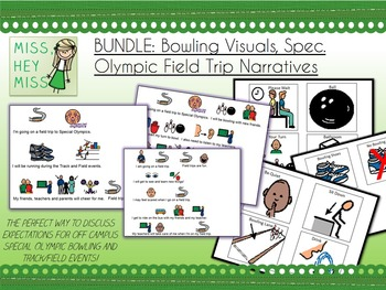 BUNDLE: Bowling Visuals, Spec. Olympic Field Trip Narrative