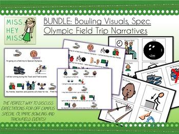 BUNDLE: Bowling Visuals, Spec. Olympic Field Trip Narrative