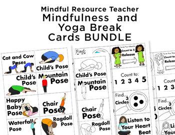 BUNDLE- Brain Break Cards- Mindfulness AND Yoga