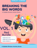 RED BUNDLE!! Breaking the Big Words: Syllable Division Activity Sets 1-7 (VC/CV)