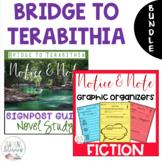 BUNDLE - Bridge to Terabithia - Notice & Note Graphic Organizers + Novel Study