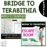 BUNDLE - Bridge to Terabithia - Notice & Note Novel Study + Escape Room