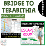 Bridge to Terabithia ESCAPE ROOM and NOTICE AND NOTE Novel
