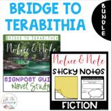 BUNDLE - Bridge to Terabithia - Notice & Note Post It Organizers + Novel Study