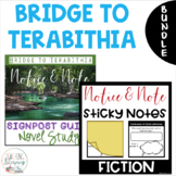 Bridge to Terabithia NOTICE AND NOTE Signposts Sticky Note