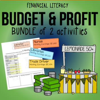 BUNDLE: Budget and Profit Activities TEK 4.10B & 4.10D