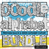 Alphabet ClipArt BUNDLE | Printable Bulletin Board Letters