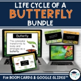 BUNDLE: Butterfly Life Cycle BOOM CARDS + Slideshow + Templates - Google Slides™